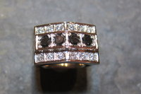 18K White gold with white and black diamonds