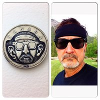 Hard Self Protrait with large ears, Hobo Nickel