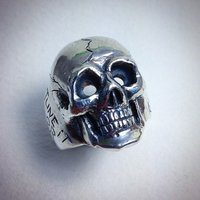 Anatomically correct skull in sterling